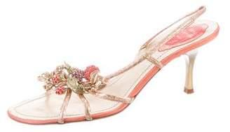 Rene Caovilla Embellished Ankle-Strap Sandals