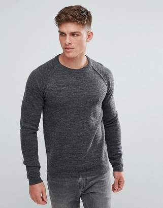 Solid Sweater With Raglan Sleeve