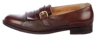 Bruno Magli Leather Kiltie Loafers