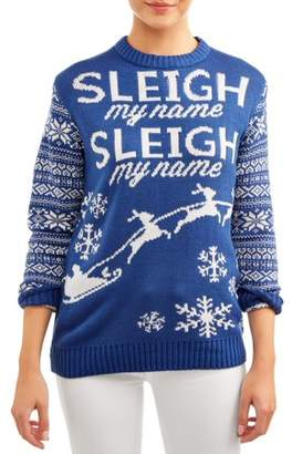 "Merry Christmas Women's ""Sleigh My Name"" Ugly Christmas Sweater"
