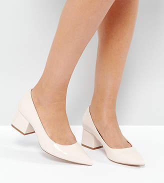 Asos Design SIMPLY Block Mid Heels