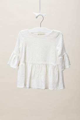 Lil Lemons Embroidered Jersey Blouse