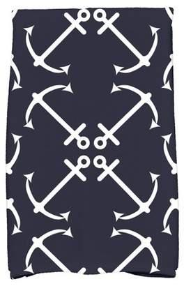 "Simply Daisy 16"" x 25"" Anchor's Up Geometric Print Hand Towel"