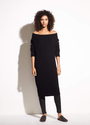 Vince Off-the-Shoulder Wool and Cashmere Dress