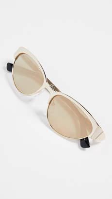 Moschino Narrow Metal Sunglasses