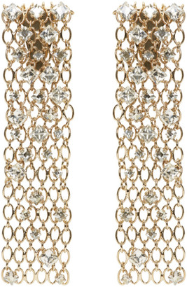 Lanvin Gold & Crystal Chain Clip-On Earrings $950 thestylecure.com