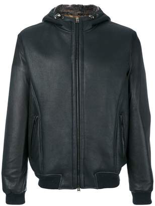 Etro hooded leather jacket
