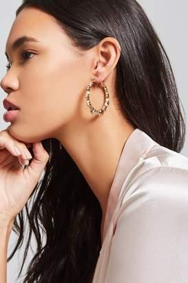 Forever 21 Bamboo Inspired Hoop Earrings Set
