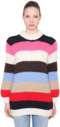 Ganni Julliard Mohair & Wool Knit Sweater