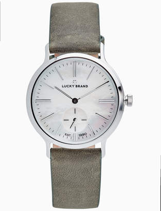 Lucky Brand VENTANA OLIVE LEATHER WATCH, 34MM
