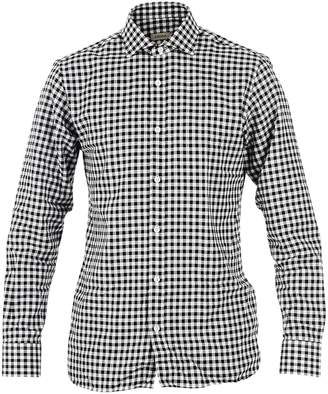 Ermenegildo Zegna Black And White Checked Shirt