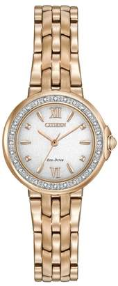Citizen Women's Eco-Drive Diamond Bracelet Watch, 28mm - 0.0053 ctw