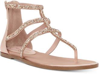 Jessica Simpson Cammie Sparkle Strap Flat Sandals Women's Shoes