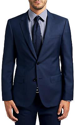 HUGO BOSS HUGO by C-Huge1 Wool Fil a Fil Slim Fit Suit Jacket, Medium Blue