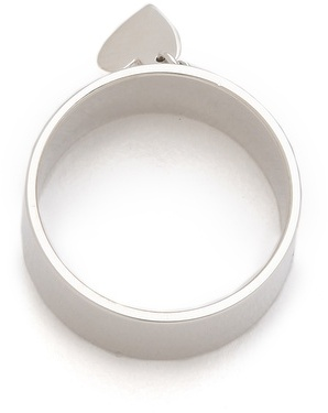 Jennifer Zeuner Jewelry Cigar Band Heart Ring