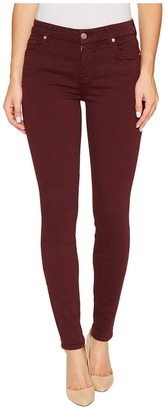 7 For All Mankind - The Ankle Skinny in Mulberry Women's Jeans