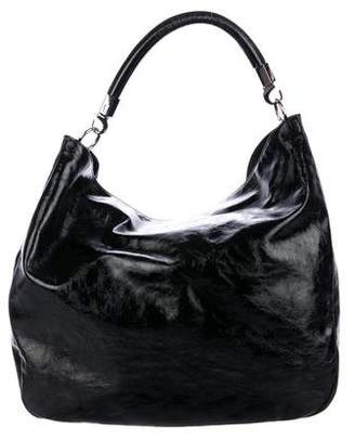 Saint Laurent Roady Patent Leather Hobo