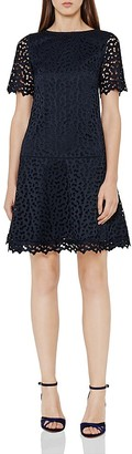 REISS Mae Embroidered Lace Dress $340 thestylecure.com