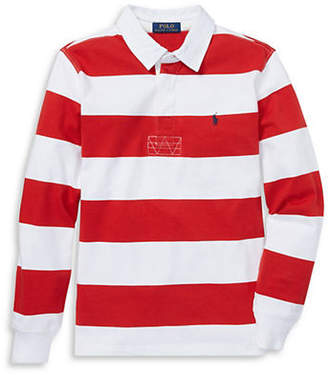 Ralph Lauren Boy's Striped Jersey Rugby Shirt