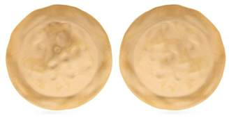 Loewe Shield Earrings - Womens - Gold
