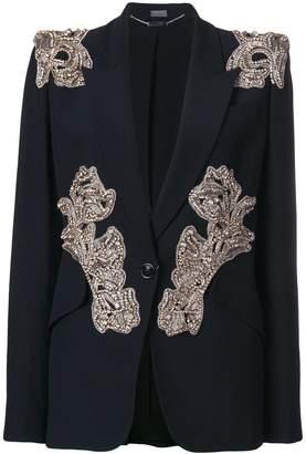 Alexander McQueen bead embellished blazer