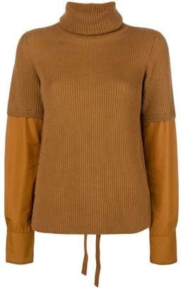 No.21 poplin sleeve jumper