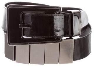Suzi Roher Patent Leather Waist Belt