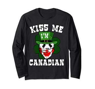 Canadian Flag Bandana L Sleeve Leprechaun Panda Tee