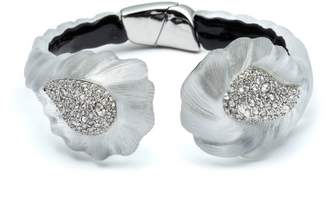 Alexis Bittar Frosted Crystal Encrusted Paisley Rope Hinge Bracelet