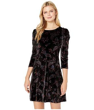 CeCe 3/4 Sleeve Enchanted Paisley Fleur Dress