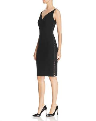 Elie Tahari Yolanda Soutache Trim Sheath Dress