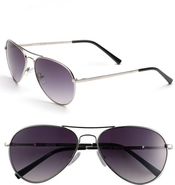 MICHAEL Michael Kors 57mm Aviator Sunglasses Gold One Size