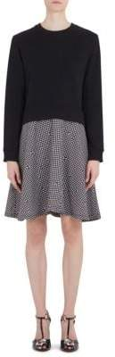 Carven Fleece Crepe Layered Dress