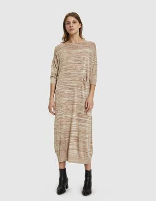 LAUREN MANOOGIAN Big Crewneck Knit Dress