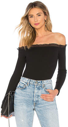 by the way. Brenda Ruffle Edge Off Shoulder Top