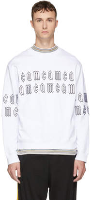 McQ White Gothic Repeat Logo Clean Sweatshirt