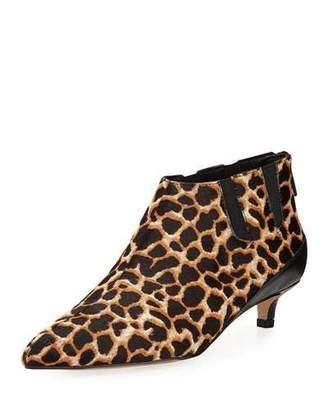 Donald J Pliner Ilex Leopard-Print Kitten-Heel Booties