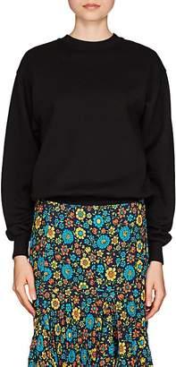 Balenciaga Women's Logo-Back Cotton-Blend Fleece Sweatshirt