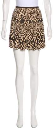 Diane von Furstenberg Silk Pleated Mini Skirt