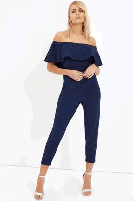 Girls On Film Outlet Navy Jumpsuit