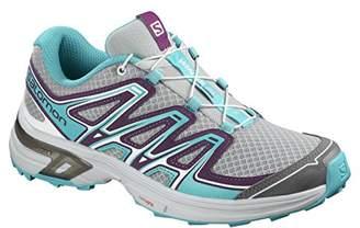 Salomon Women's Wings Flyte 2 Trail Running Shoes, Synthetic/Textile, Grey (Quarry/Dark Purple/Blue Bird), Size: 43. 3