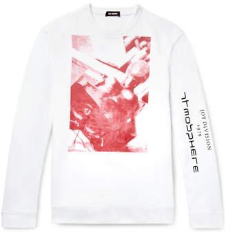 Raf Simons Oversized Printed Loopback Cotton-Jersey Sweatshirt - Men - White