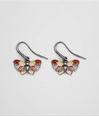 Bottega Veneta Multicolor Antique Silver Butterfly Earrings