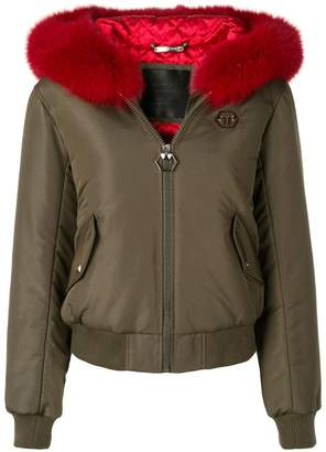Philipp Plein fur trim jacket