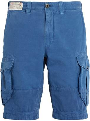 Incotex Mid-rise cotton cargo shorts