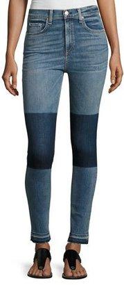 rag & bone/JEAN Dive High-Rise Colorblock Capri Jeans, Indigo $275 thestylecure.com