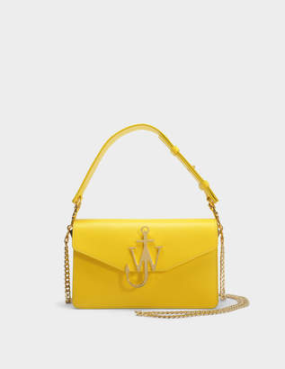 J.W.Anderson Logo PUrse Bag in Yellow Calf Leather