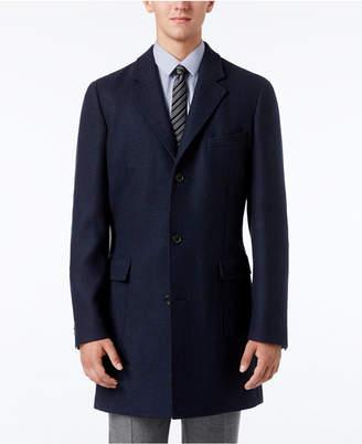 Michael Kors Men's Slim-Fit Twill-to-Plaid Overcoat