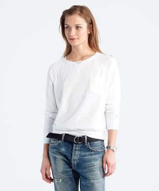 Todd Snyder + Champion: Womens Women's Boyfriend Sweatshirt in White