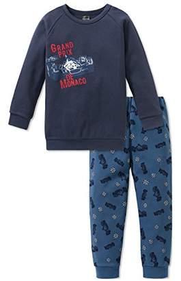 Schiesser Boy's Grand Prix Kn Anzug Lang Pyjama Sets, (Dark Blue 803)